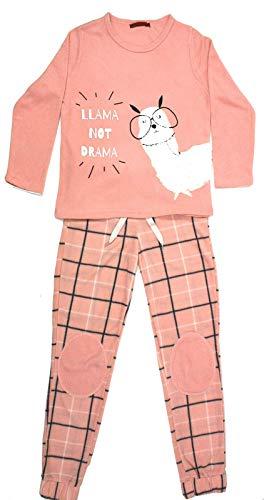 Montse Interiors, S.L. Pijama Mujer Largo Llama Rosa Té