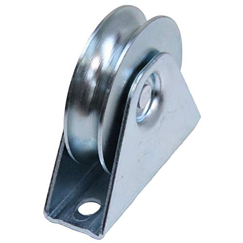 Roue de roue de la roue de la porte de 50 mm dans le support, roues de roue de la roue de guidage à rainure ronde