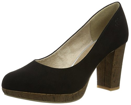 s.Oliver Damen 22409 Pumps, Schwarz (Black 001), 39 EU