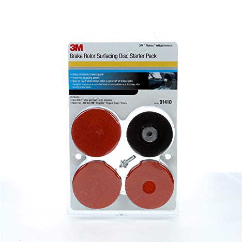 3M Roloc Brake Rotor Surface Conditioning Disc Starter Pack, 01410, 3 in, 120 grit, 9 discs per pack