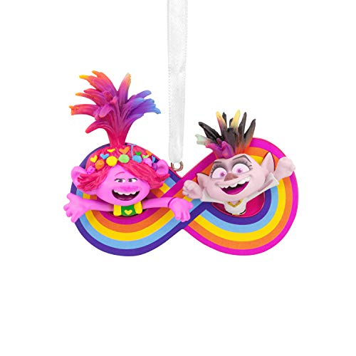 Hallmark Christmas Ornament, DreamWorks Trolls World Tour Poppy and Barb Friendship