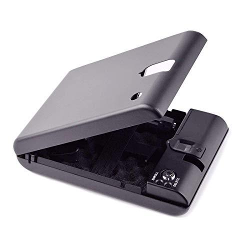 FEEE-ZC Caja Fuerte portátil para Pistola de Huellas Dactilares, Caja Secreta con Sensor de Huellas Dactilares, Caja Fuerte para Llaves de Seguridad, Caja Fuerte para Joyas de Valor
