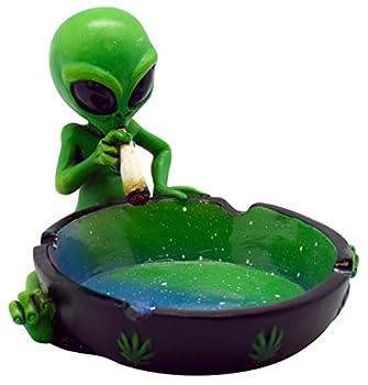 Fantasy Gifts Alien Smoking Ashtray 4 inches Multicolor