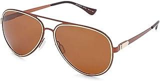 نظارات شمسية للجنسين مقاس 59 ملم من تي اف ال - بني