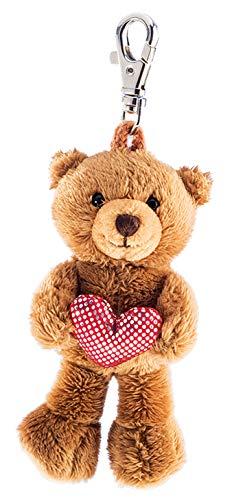 Schaffer 235 - Llavero de peluche, diseño de oso con corazón