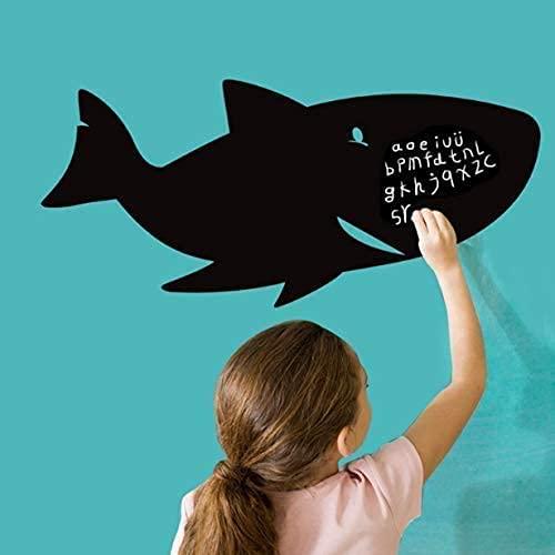Carta Da Parati Per Lavagna A Forma Di Squalo Carta Da Parati Per Bambini Con Scritta In Gesso...