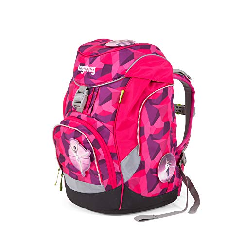ergobag pack Set - ergonomischer Schulrucksack, Set 6-teilig, 20 Liter, 1.100 g - Prima Bärllerina - Pink