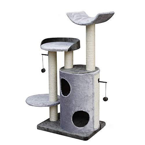 Ccgdgft Krabpaal Huisdier Activiteitscentrum Multi-Level Cat Boom Sisal-gedekte Krabpalen Mand En Condo Cat Meubels