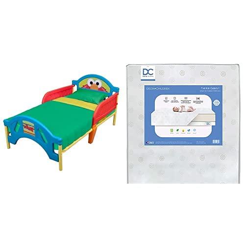 Delta Children Plastic Toddler Bed Street + Popular product Sesame 4 years warranty Childr