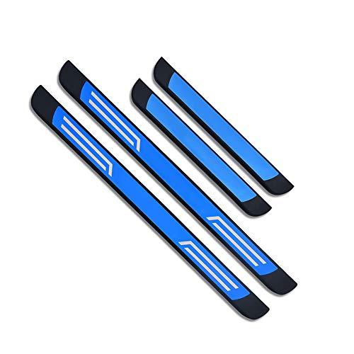 YEE PIN Einstiegsleisten Set Tiguan 2, Türschweller Pedal Schützen Leisten Schweller Schutz Aufkleber (4 stücke) (Blau)
