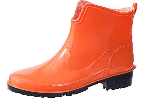 Ladeheid Damen Kurze Gummistiefel LA-930 (Orange, 36 EU)