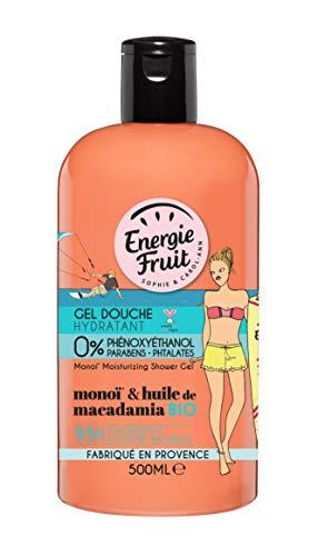 Energie Fruit Gel Douche Hydratant Monoï/Huile de Macadamia Bio