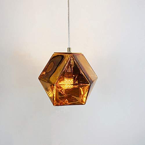 LFsem Nordico Moderno Creativo Lampada a sospensione Lampadario in Vetro Decorazione Artistica Loft Lampada da Soffitto Luce Pendente per camera da letto Soggiorno (Oro rosa)
