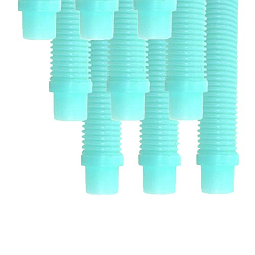 Puri Tech 9 Pack Universal Pool Cleaner Suction Hose 48 Inches Long Aqua Color for Kreepy Krauly, Baracuda G3/G4, Navigator, More Universal Fit 4' Feet Long