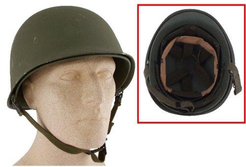 US Helm M1 Oliv mit Innenhelm 1. Wahl gebraucht Einsatzhelm Stahlhelm