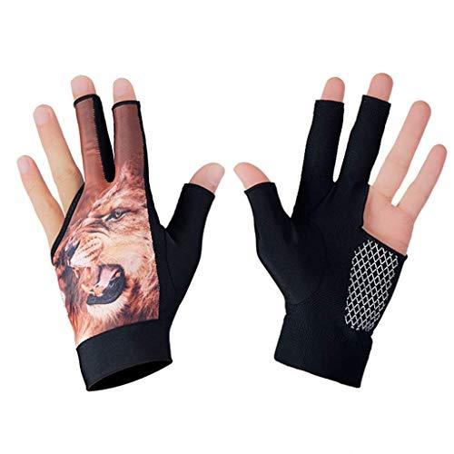 Taoke Billard-Handschuh, 3-Finger Snooker Pool Cue Glove Breathable Anti-Skid-Billard-tireur Glove Erwachsene Unisex 4 Farben 8bayfa (Color : Beast)