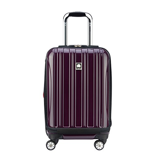 DELSEY Paris Helium Aero Hardside Expandable Luggage with Spinner Wheels, Plum Purple, Carry-On 19 Inch