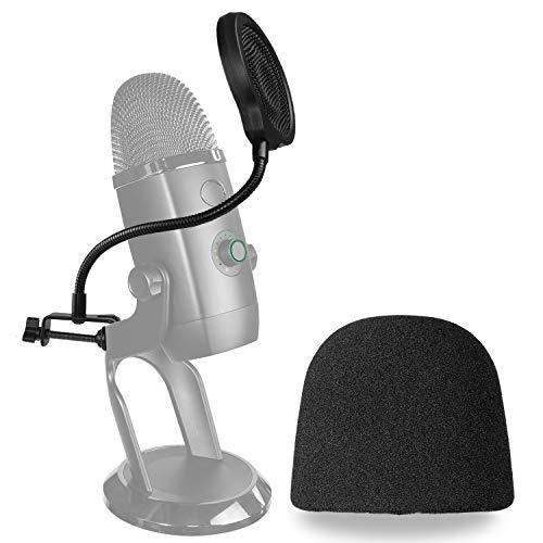 Yeti X Mikrofon Popschutz mit Windschutz - Dreischichtiger Pop-schutz und Windshield für das Blue Yeti X Mic zur Aufnahme von YOUSHARES