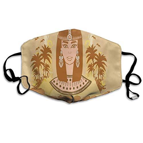 Ägyptischer Fisch mit Bannerfisch Goldfisch Papageienfisch Wild Nature Rotes Meer Thema, Gesicht Schal Wiederverwendbares waschbares Tuch für Männer Frauen