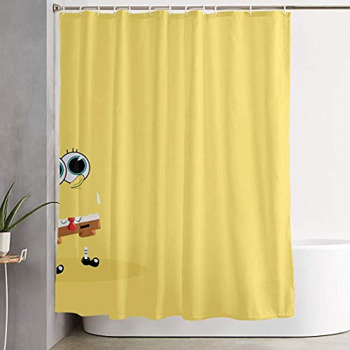 pingshang Duschvorhang mit Haken - Sponge-Bob Wasserdichtes Polyestergewebe Badezimmerdekor 60 x 72 Zoll