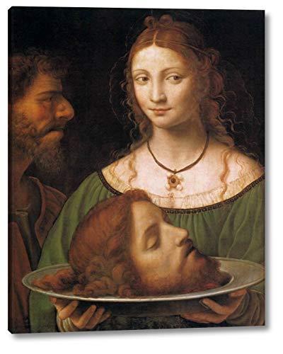 "Salome with The Head of John The Baptist by Bernardino Luini - 16"" x 20"" Gallery Wrap Canvas Art Print - Ready to Hang"