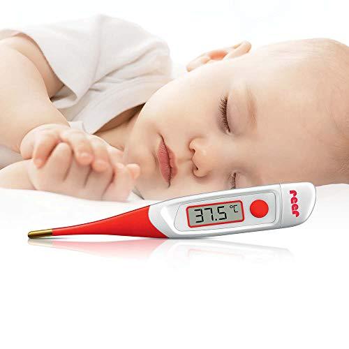 reer 9840 Digitales Express-Fieber-Thermometer fürs Baby, misst in 30 Sekunden, für Nickel-Allergiker geeignet