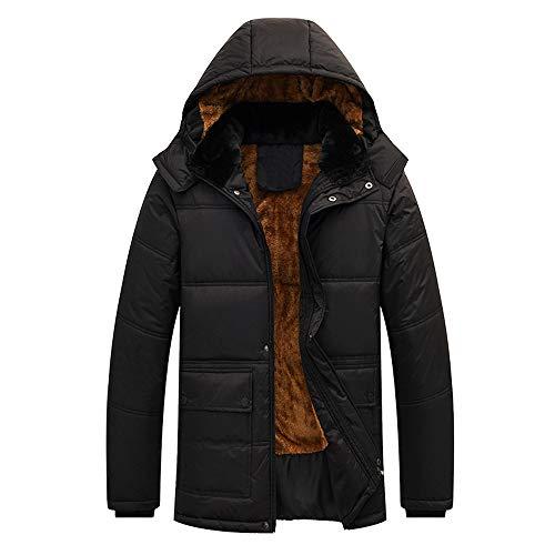 FRAUIT heren donsjas herfst winter capuchon wollen mantel mannen windjack capuchon zip dikke fleece mantel sneeuw beer warm comfortabele kleding blouse top M-5XL