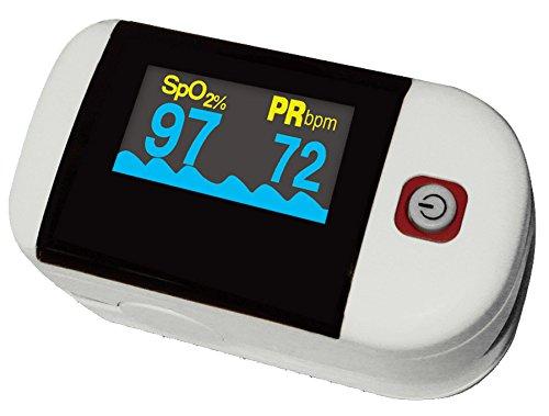 Fingerpulsoximeter Pulsoximeter Sauerstoff und Puls Messgerät inklusive Zubehör