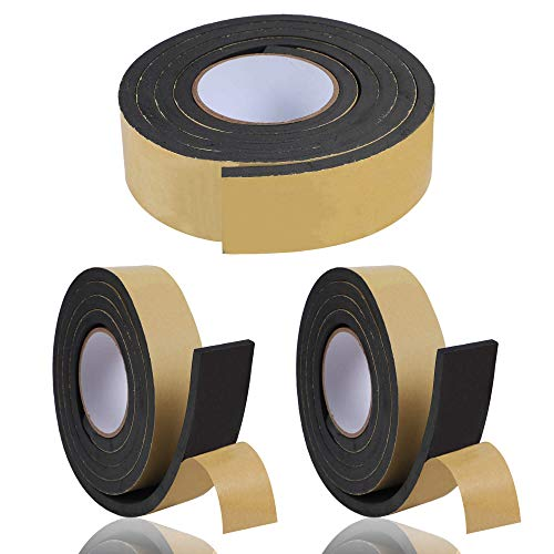 KURASHI 高密度クッション隙間テープ 3本セット 防水 パッキンテープ 防風 防音 雨戸 サッシ 幅30mm 厚み10mm(2m)