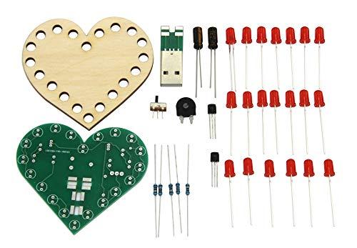 Sol Expert Blinkendes Herz, Schüler-Lötbausatz für USB (Powerbank / Port)