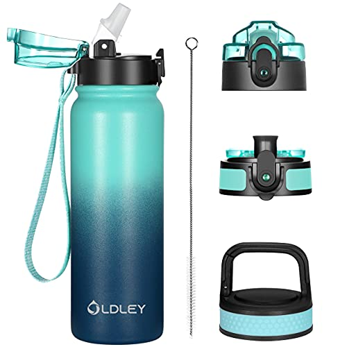 Insulated Water Bottle, 20oz Stainless Steel Double Wall Vacuum, 3...