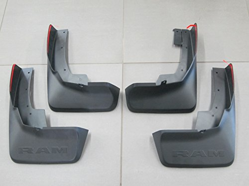 Mopar 82215488AB 82215489AB Ram 1500 Front and Rear Deluxe Molded Splash Guards With Fender Flares