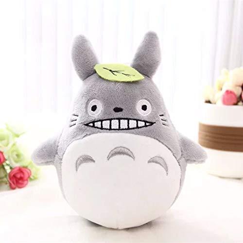 ZZYYLL 3 en 1 Almohada Linda Manta Totoro Muñeca de Peluche Anime Miyazaki Hayao Studio Ghibli Totoro Almohada para niños Niña Novia Navidad,Gris