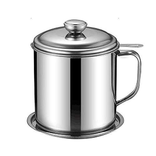 Filtro De Aceite De Cocina De Acero Inoxidable De 1.3L / 1.7L, Cartucho De Filtro De Grasa, con Filtro De Poros Finos Y Tapa, Adecuado para Almacenar Aceite De Freír Y Grasa De Cocina
