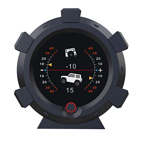 Ángulo de Coche GPS Medidor de Pendiente Inclinómetro de Coche Indicador de Inclinación de Nivel con Velocímetro HUD MPH KMH Para DC5-28V Todo Terreno