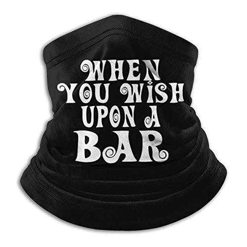 Jopath When You Wish Upon A Bar calentador de cuello de microfibra de forro polar para invierno, bufanda mágica a prueba de viento pasamontañas unisex