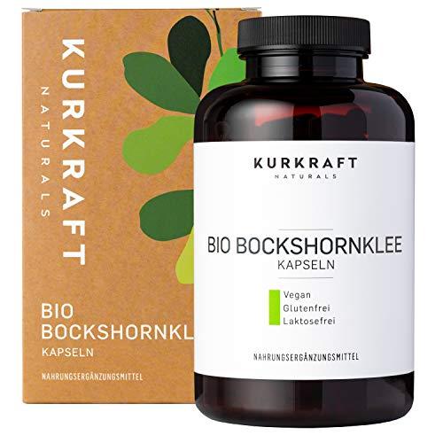 Kurkraft® Bockshornklee Aktiviert - Bio-Zertifiziert & Laborgeprüft - Vegan - 2600mg (650mg je Kapsel) - 240 Kapseln - ohne Zusatzstoffe - Sorgfältig hergestellt in Deutschland