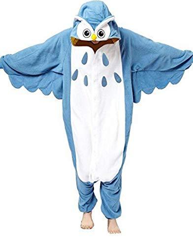 Anbelarui® Pijama de Halloween con capucha para adultos, disfraz de cosplay (talla del cuerpo: 145-155 cm), diseño de búho