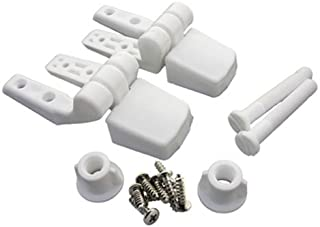 LASCO 14-1039 White Plastic Toilet Seat Hinge with Bolts and Nuts, Top Tightening, Fits Bemis Brand