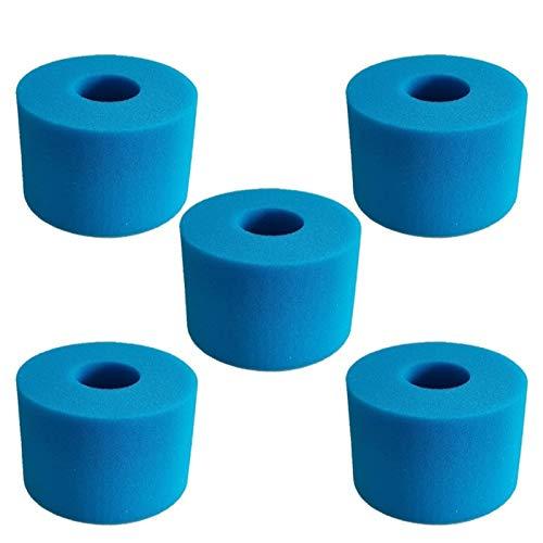 SANKUAI Für Intex Pure SPA Wiederverwendbare waschbare Schaumstoff-Whirlpool-Filterkassette S1-Typ (Farbe : 5 PCS)