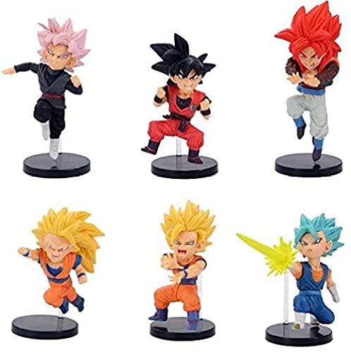 6 Habitaciones/Set Dragon Ball Z Dark Goku Goggeta Vegeta Super Saiya 3 King Puño Super Saiya 4 P Ver Figurine Articulate DBZ PVC Modelo 8-10