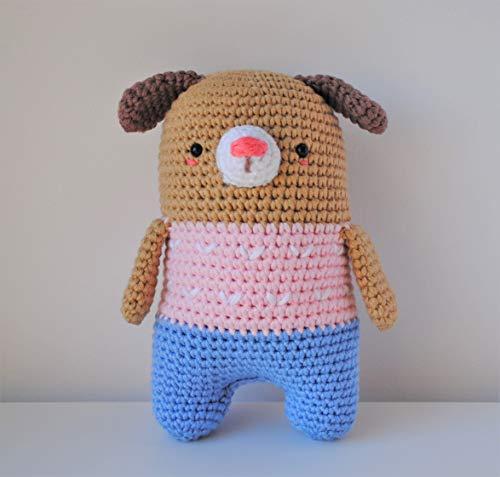 Chiot peluche 18cm crocheté main Amigurumi Marshmallow Toys