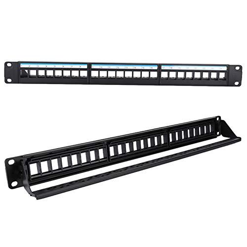 Shipenophy Rack per Cavi di Rete per Pannello Patch di Dati da 19 Pollici 8 Moduli Comodo Marchio al 100% per apparecchiature modulari