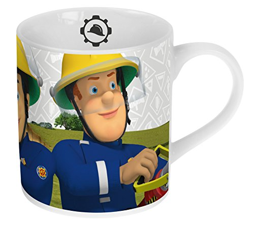 Feuerwehmann Sam Porzellan Kaffee-Becher 180ml im Geschenk-Karton
