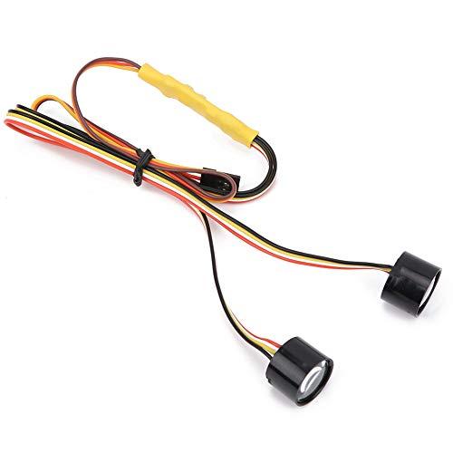 Bigking Linterna del Coche de RC, Accesorio Modificado de la lámpara de la Cabeza de la Linterna del LED Colorido Apto para el Coche de Oruga 1/10 RC