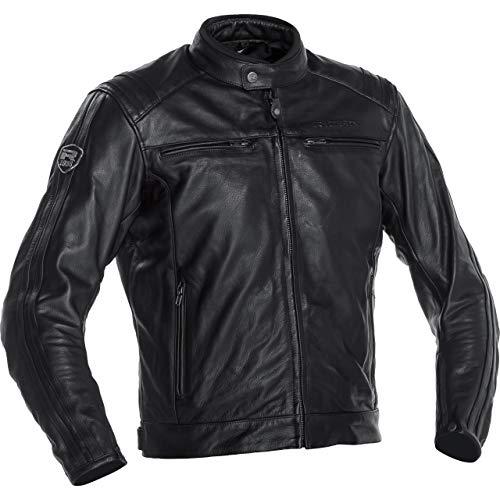 Richa Motorradjacke mit Protektoren Motorrad Jacke Retro Racing 3 Lederjacke schwarz 60, Herren, Chopper/Cruiser, Ganzjährig