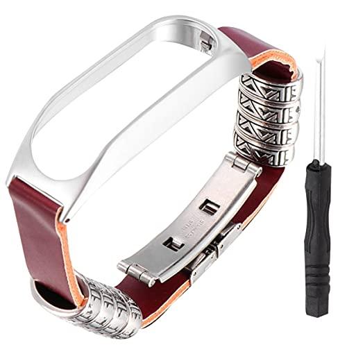 UKCOCO Correa de repuesto compatible con reloj Tom Tom Touch- arco con hebilla de reloj con metal de lujo, decoración para hombres y mujeres, como en la imagen, 2,1x29,5 cm,