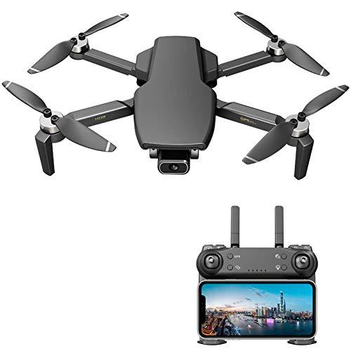 LIUCHANG Faltbare Mini-Drohne mit 4k 5g WiFi-FPV-Kamera, tragbare Echtzeit-Drohne mit Höhe, Geste Aufnahme |GPS-Renditen, Professionelle Hubschrauber Kinderspielzeug liuchang20 (Color : Black)