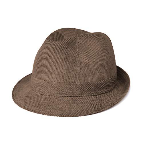 fiebig Westminster Sombrero de cordn   Trilby para Mujer y Hombre de algodn   en Muchos Colores y tamaos   Fedora con Banda Interior y Forro de Malla (57-M, Marrn)