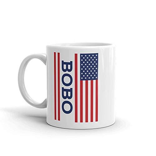 Amerikanische Flagge Bobo Einzigartige Keramik Kaffeetasse / Tasse & mdash; Geburtstag Vatertag für Papa Vater Opa
